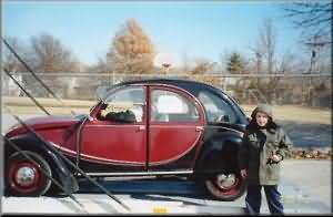2CV of Jerry, Olathe, KS, just out from the trailer