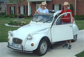 Paul and Freda's white 2CV6