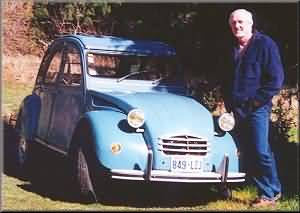 John and his 2CV, Gig Harbor, WA